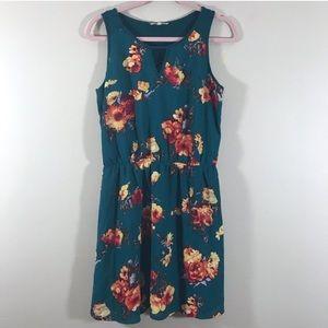Stitch Fix 41 Hawthorn Evander Green Floral Dress